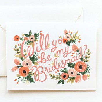 Rifle Paper Co. Bridesmaid Note Card-individual