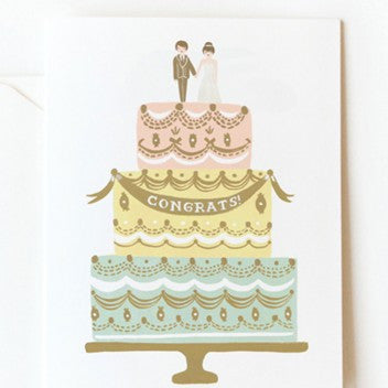 Rifle Paper Co. Congrats Wedding Cake Card