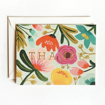 Rifle Paper Co. Gold Floral Thank You Note Cards