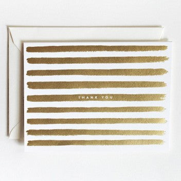 Rifle Paper Co. Gold Strip Thank You Note Cards