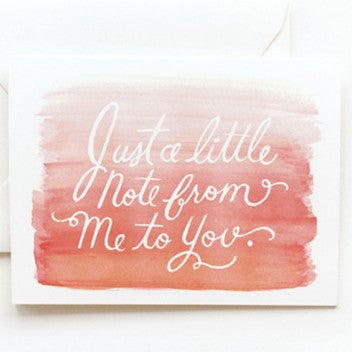 Rifle Paper Co. Watercolor Notecard-Peach