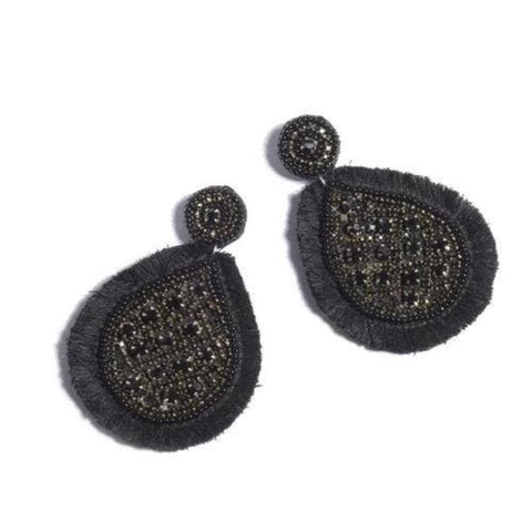 Desiree earrings, black