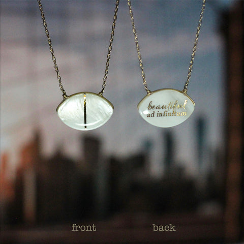 "Fiction Jewelry - ""beautiful ad infinitum"" reversible necklace"