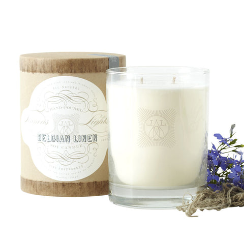 Linnea's Lights Belgian Linen Candle