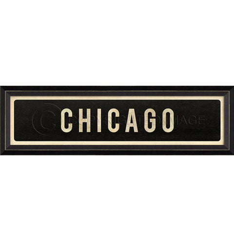 Street Sign Wall Decor-Chicago