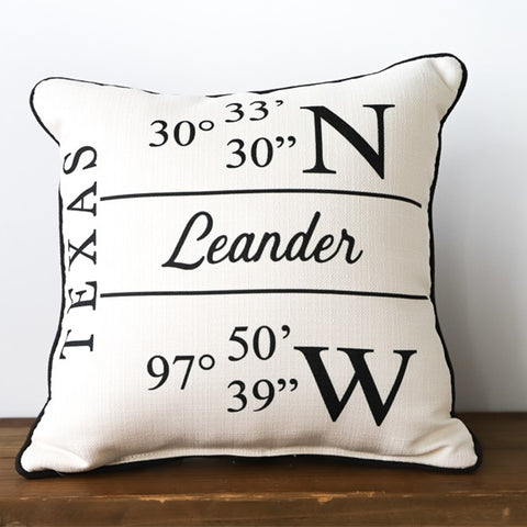 Longitude/Latitude Pillow