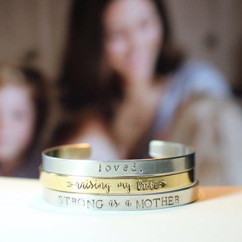 Fiction Jewelry - Personalized cuff bracelet for Mom