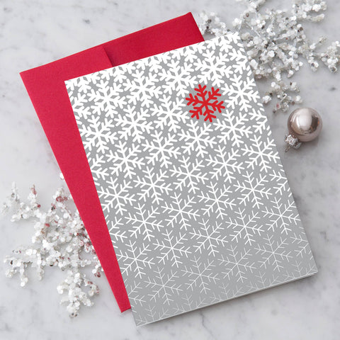 Design With Heart - Modern Snowflake Greeting Card