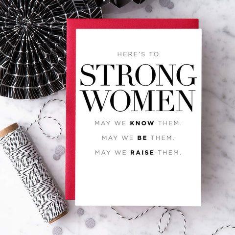 "Design With Heart ""Here's to Strong Women"""