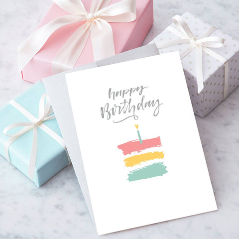 "Design With Heart - HB46 - ""Happy Birthday"" Greeting Card"
