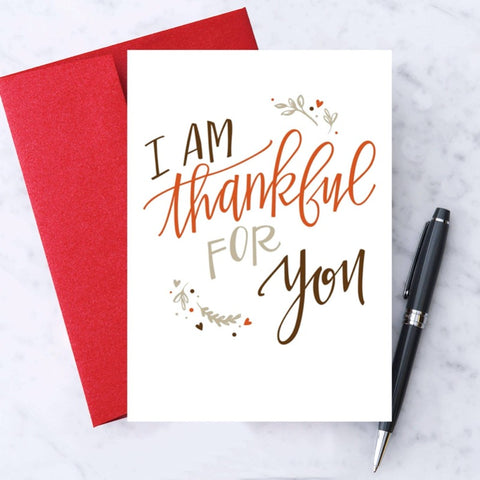 "Design With Heart - ""I'm Thankful for You!"" Thanksgiving Greeting Card"