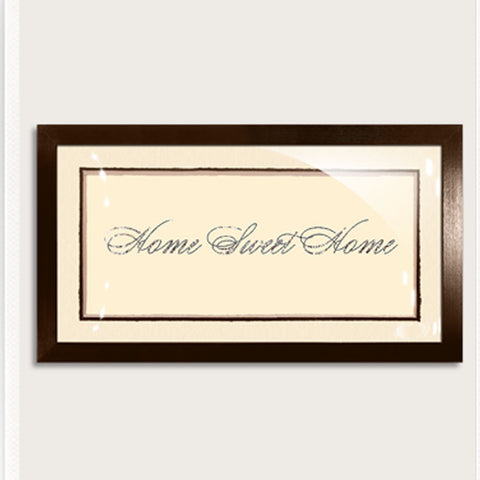 Gilded Platinum Silver Home Sweet Home Vintage Expression Artwork