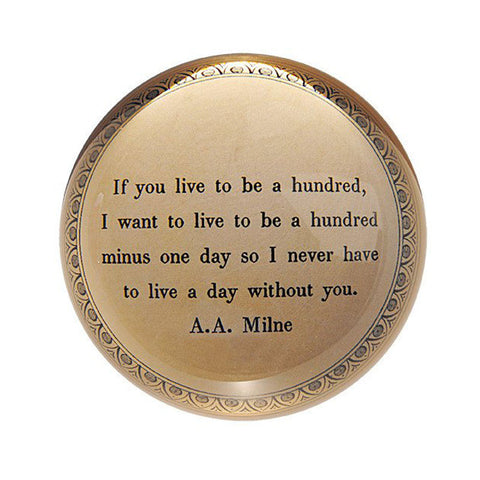 If You Live to be a Hundred-Paperweight