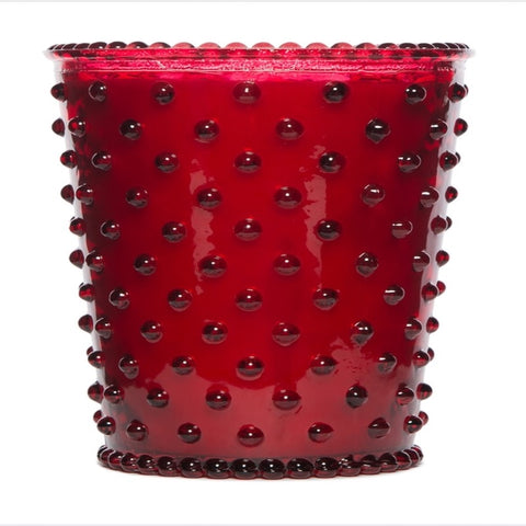 KHall Designs Reindeer Hobnail Glass Candle