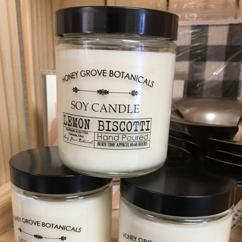 Honey Grove Botanicals Lemon Biscotti Candle