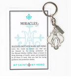 Blessed Mother Mary Miracles Key Ring