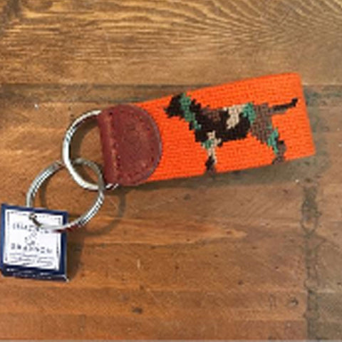 Smathers & Branson Camo Retriever Needlepoint Key Fob