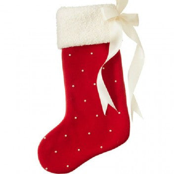 Made in the USA Christmas Stocking-Red