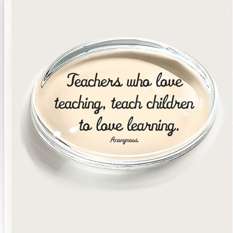 Ben's Garden Teachers Paperweight