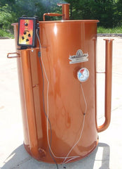IQ110 Automatic Barbecue Controller on a Gateway Drum Smoker