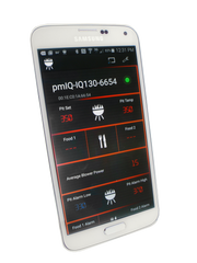 qSmart smartphone app connected with an IQ130