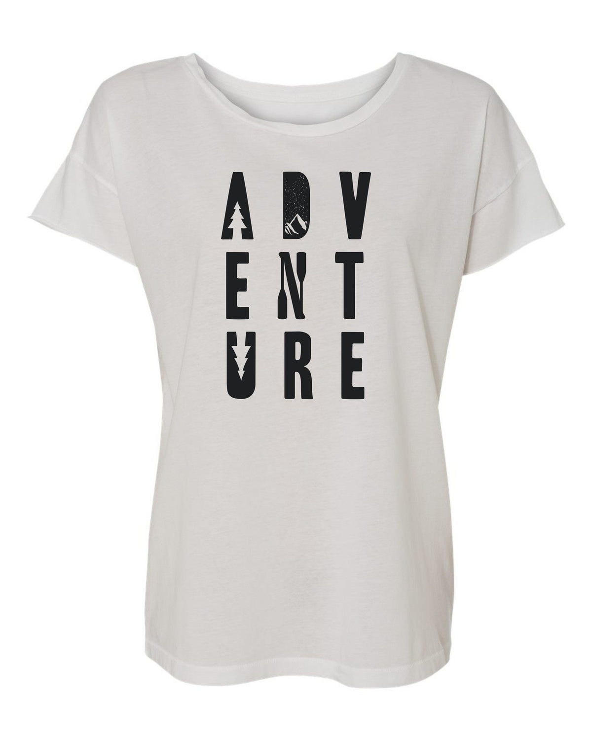 Womens Vintage White Adventure Tee