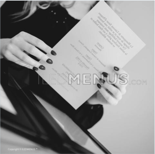 Backlit paper Legal - ILED MENUS