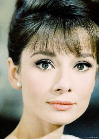 Audrey Hepburn Wearing Pearl Earrings