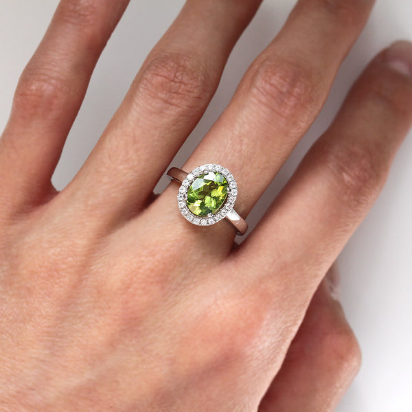 925 Sterling Silver Peridot Ring