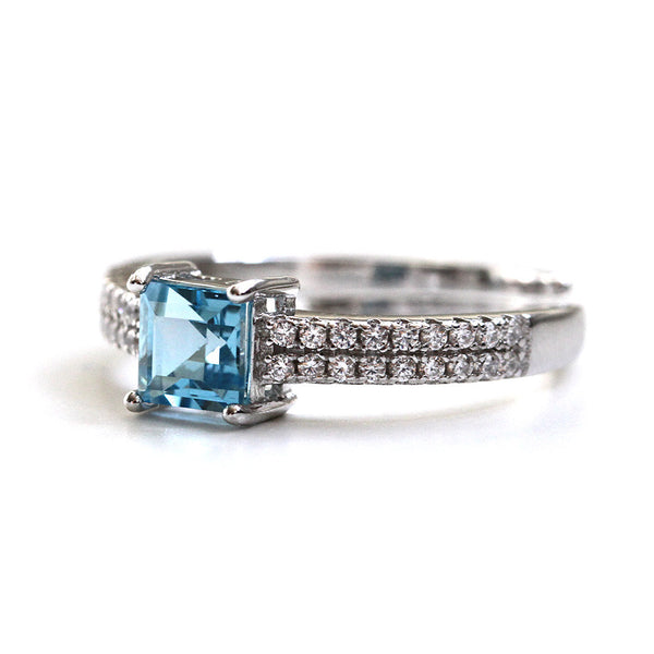 Adjustable Blue Topaz Ring