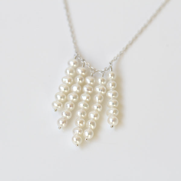 boho pearl necklace pearlberry