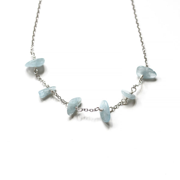 Dainty Aquamarine Necklace