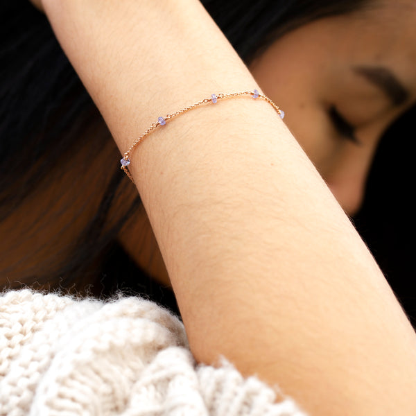 dainty tanzanite bracelet uk