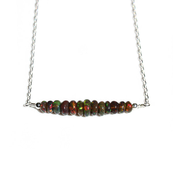 Ethiopian Black Opal Necklace