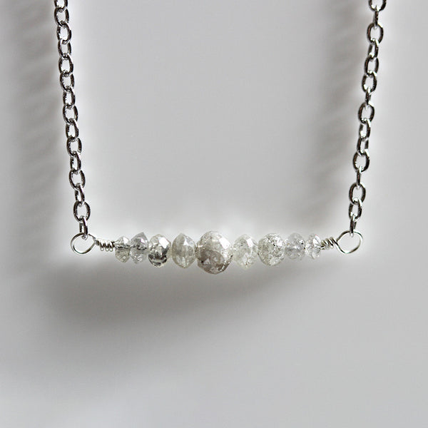 Faceted Diamond Necklace