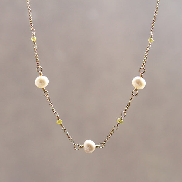 Freshwater Pearl and Diamond Pendant