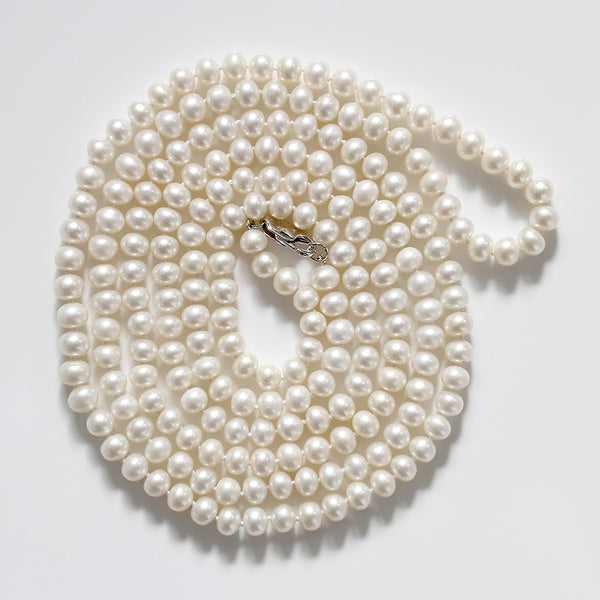 gatsby style pearl necklace