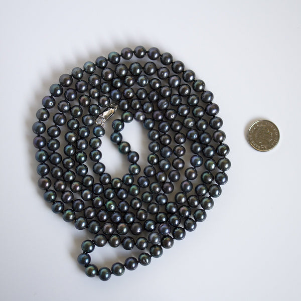 genuine black pearls