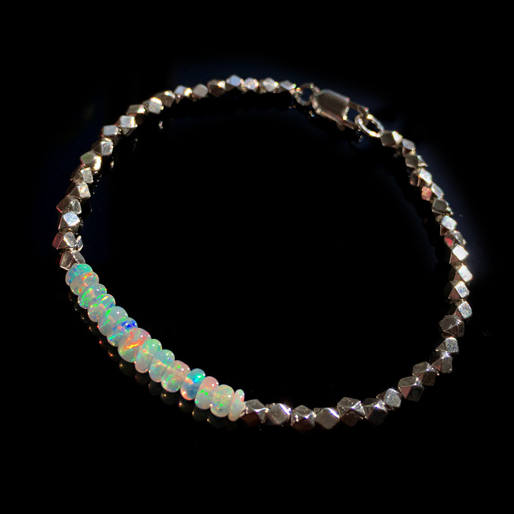 for store sterling opal women men product or real natural chain jewelry silver bracelet bangle gem fine
