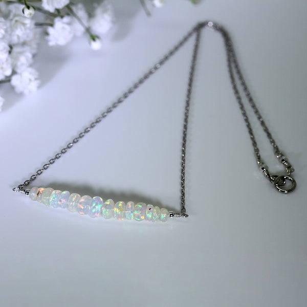 genuine opal necklace