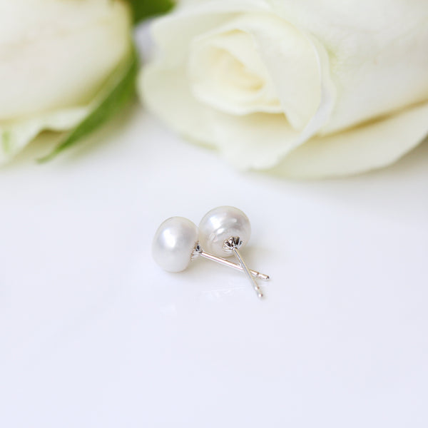 genuine pearl studs