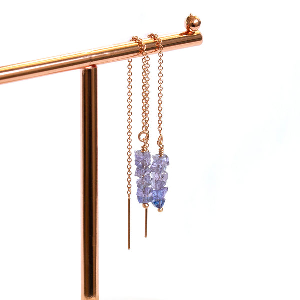 genuine tanzanite jewelry earrings