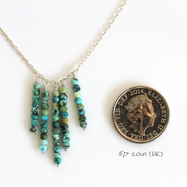 genuine turquoise necklace handmade
