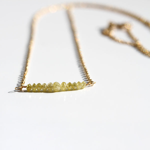 Canary Diamond Necklace, Gold