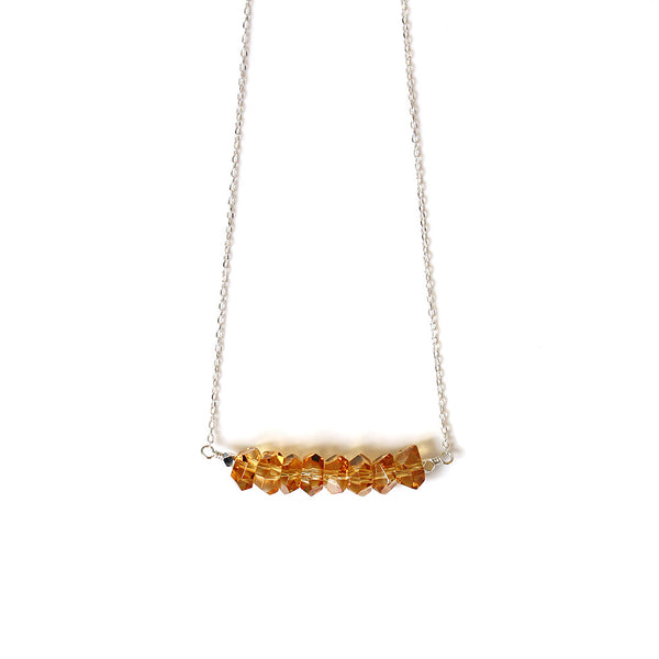 Golden Yellow Quartz Necklace