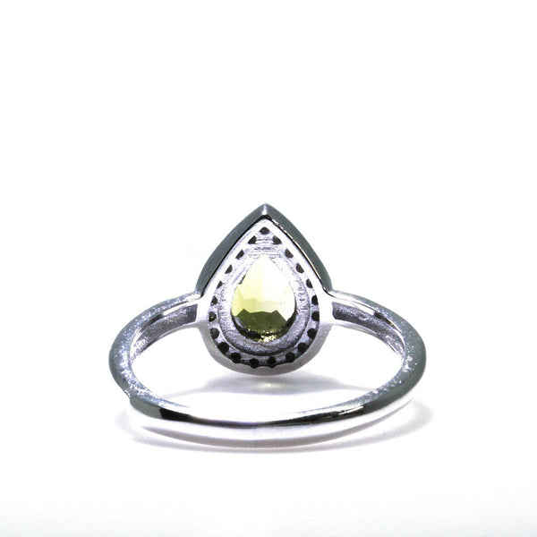 Green Tourmaline Gemstone Ring Back View Pearlberry Jewellery