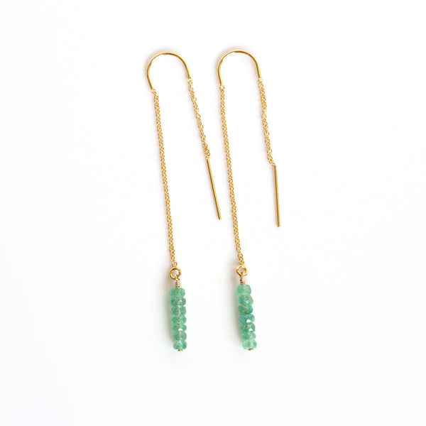 handmade emerald earrings pearlberry