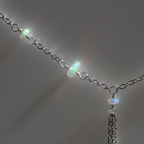 genuine opal necklace 925 sterling silver