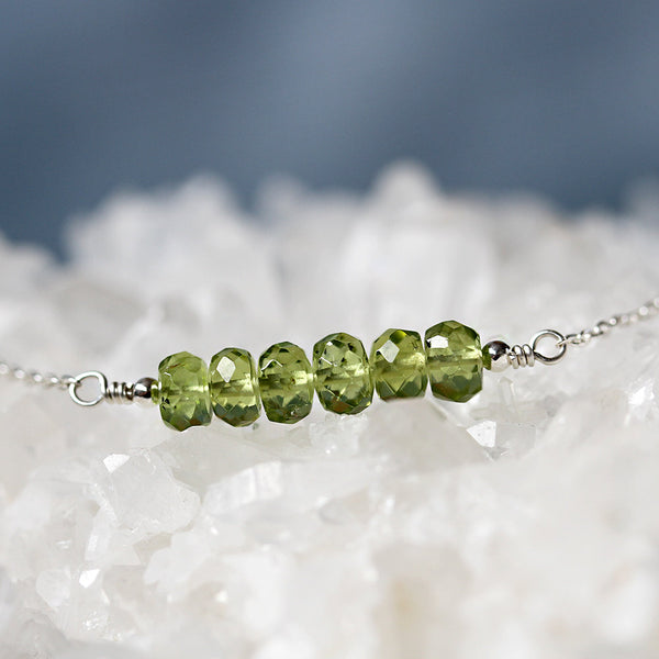 Natural Peridot Necklace