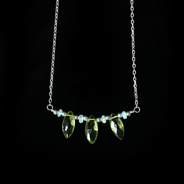 peridot opal necklace